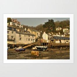 Polperro Harbour  Art Print