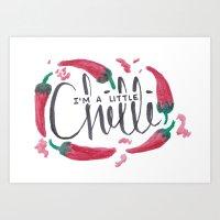 I'm a little chilli! Art Print