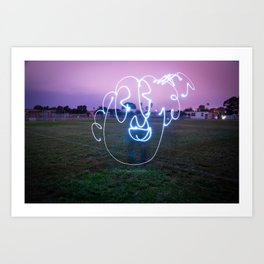 Bloopy W/JMR1 Art Print