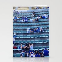 dodgers Stationery Cards featuring Find Your Seat by Gabe Dahl