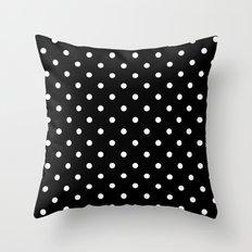 Black & White Polka Dots Throw Pillow
