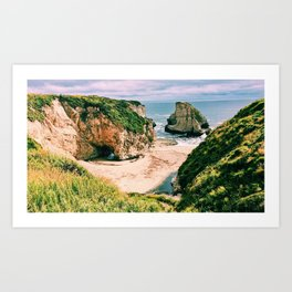 Sharkfin Beach Art Print