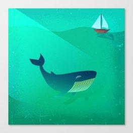 Whale Tale Canvas Print