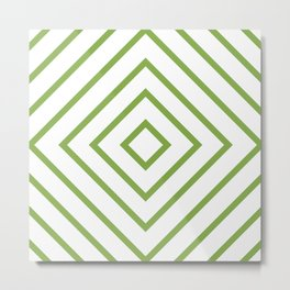 Nested Green Squares Metal Print