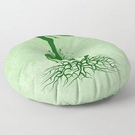 Mother Earth Day - Grunge Green 02 Floor Pillow