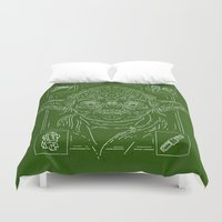 yoda Duvet Covers featuring Yoda by Jon Deviny