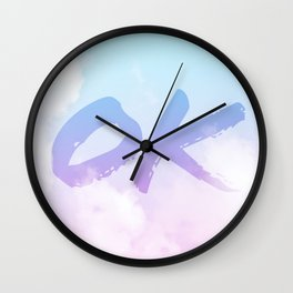 Summer Clouds OK Wall Clock