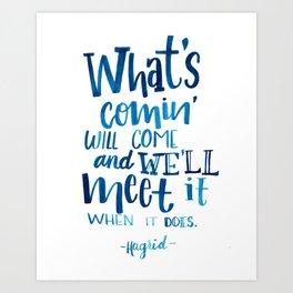 Wise Words of Hagrid Art Print