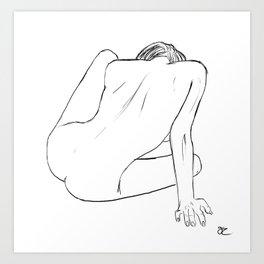 Nude Figure Study Art Print