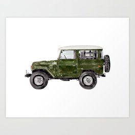Green Truck Art Print