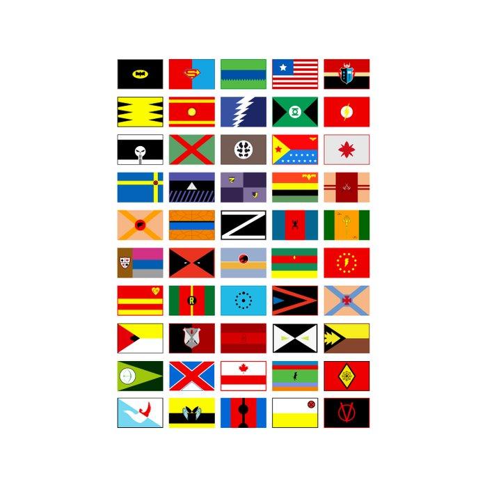 SH as flags Duvet Cover