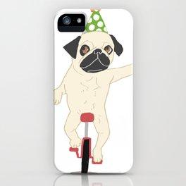 Circus pug iPhone Case