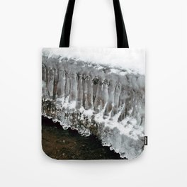 Ice Columns Tote Bag