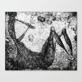 """""""La mort"""" Canvas Print"""