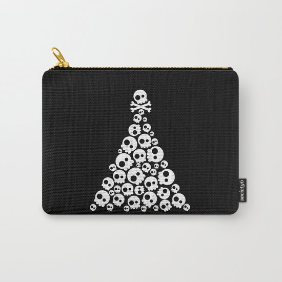 Skulls Christmas Tree Carry-All Pouch