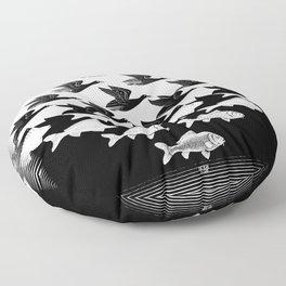 Escher - Sky and Water Floor Pillow