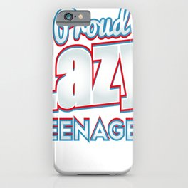 Lazy Teenager Funny Teen Humor iPhone Case