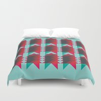 android Duvet Covers featuring Ziggy by NOT MY TYPE