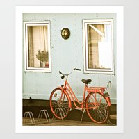 stockholm Art Prints featuring Stockholm. by Mattea Weihe