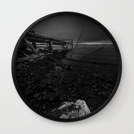 On the wrong side of the lake 6 Wall Clock