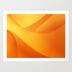 Orange Wallpaper Art Print