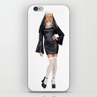 nicolas cage iPhone & iPod Skins featuring Nun-olas Cage by SharkNoises