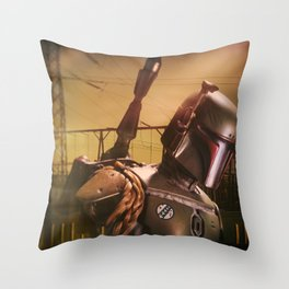 Space Guy Drops His Keys Throw Pillow