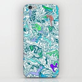 Kamasutra LOVE - Sea Blue Green Turquoise Min iPhone Skin