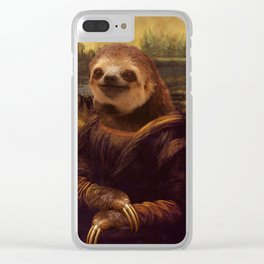 Sloth  Mona Lisa Clear iPhone Case