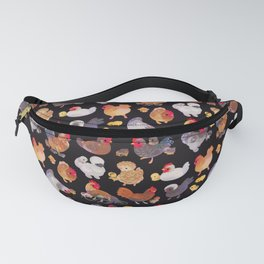 Chicken and Chick - dark Fanny Pack
