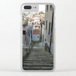 Lisbon stairs Clear iPhone Case