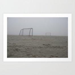 Foggy goals Art Print