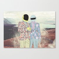 daft punk Canvas Prints featuring Daft Punk. by Lucas Eme A