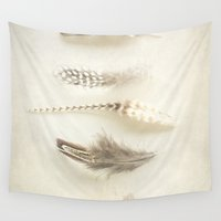 feather Wall Tapestries featuring Feather by Pure Nature Photos