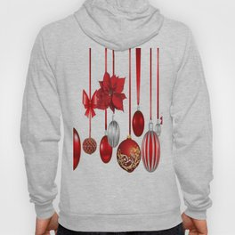 RED-WHITE CHRISTMAS ORNAMENTS FROM SOCIETY6 Hoody