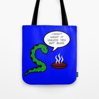 anaconda Tote Bags featuring Anaconda  by NekomuraChan
