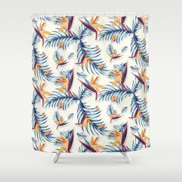 Tropical Pattern Shower Curtain