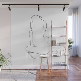 Woman One Line Wall Mural