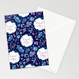 Feminist Killjoy - A Floral Pattern Stationery Cards