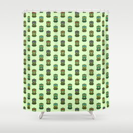 Chibi Ninja Turtles Shower Curtain