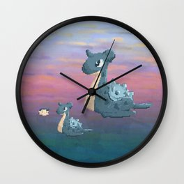 Swimming with Lapras. Wall Clock
