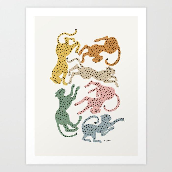Rainbow Cheetah Art Print