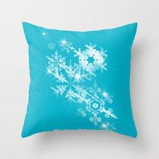 Snow Flakes of Hope Throw Pillow