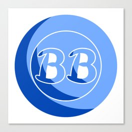 Blue Button Short Film Logo Canvas Print