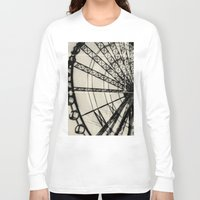 ferris wheel Long Sleeve T-shirts featuring Ferris Wheel by Phoenix Prints