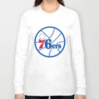 nba Long Sleeve T-shirts featuring NBA - 76ers by Katieb1013