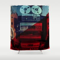 sound Shower Curtains featuring Sound by sysneye