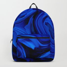 Blue Liquid Marbled texture Backpack