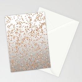 Glitter sparkle mix - rose gold & silver Stationery Cards