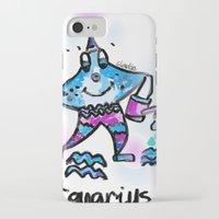 aquarius iPhone & iPod Cases featuring Aquarius  by sladja